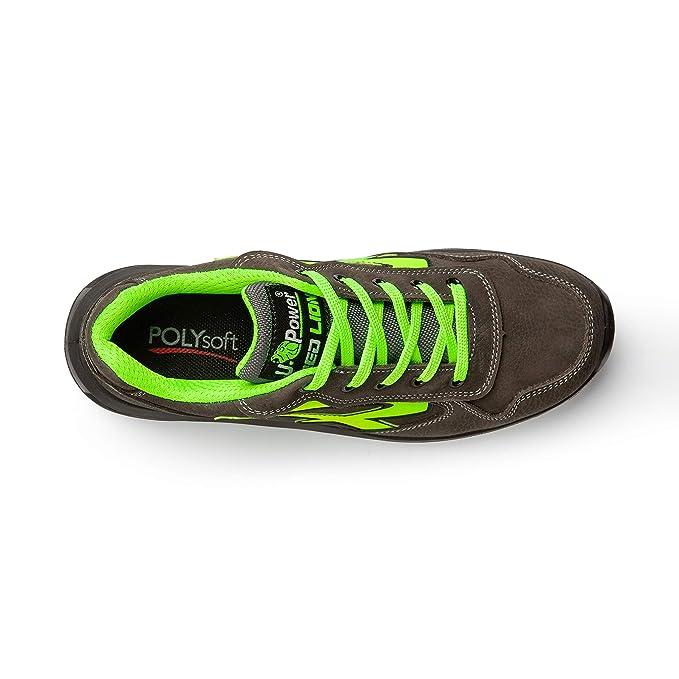 U-Power - Zapatos de seguridad gris/verde S3 SRC, RL20174: Amazon.es: Bricolaje y herramientas
