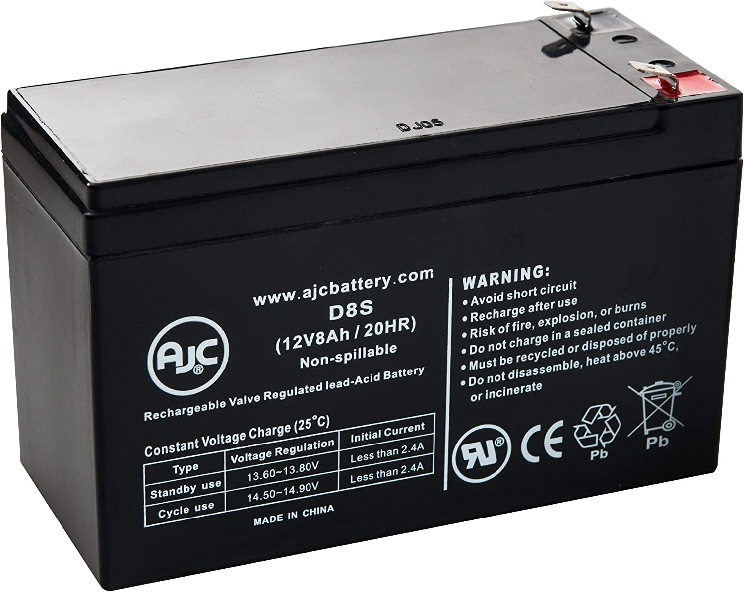 APC Back-UPS CS 500 12V 8Ah UPS Battery This is an AJC Brand Replacement