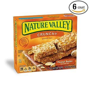 Amazon com: Nature Valley Granola Bars, Crunchy, Peanut