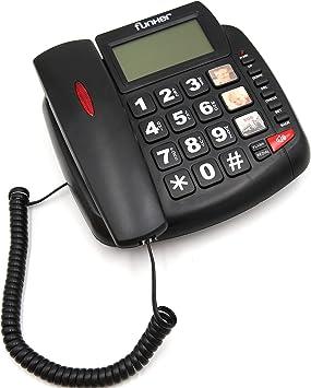 FUNKER D20 Negro TELÉFONO Fijo SOBREMESA/Pared Especial para Personas Mayores, Teclas Y Pantalla Grandes, MEMORIAS DIRECTAS con Foto, Volumen Extra Fuerte, Funcion Manos Libres: Amazon.es: Electrónica
