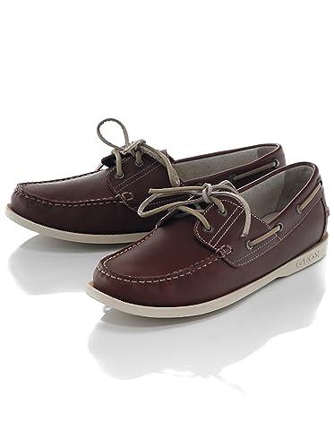 C12geox105 Marron Homme Vela Chaussures U Geox Bateau vw0Nnm8