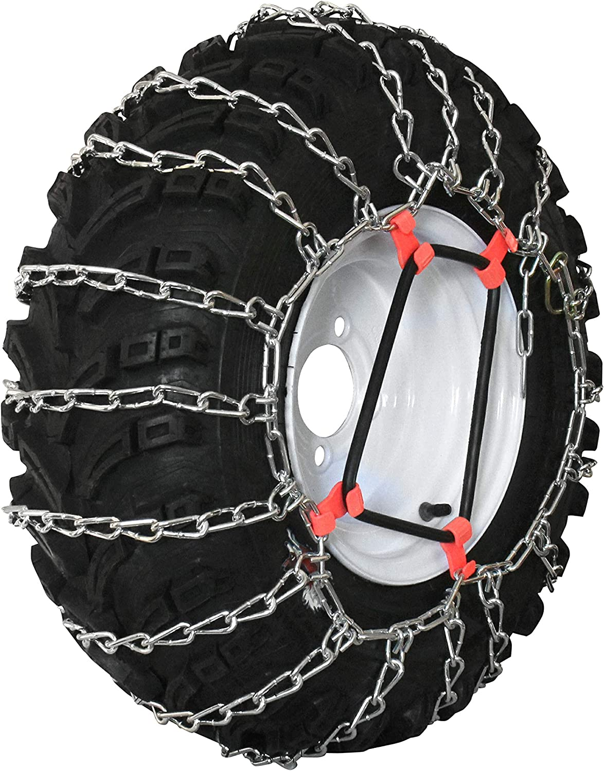 Grizzlar GTU-268 Garden Tractor 2 Link Ladder Alloy Tire Chains Tensioner Included 20x10.50-12 21x10.50-12 22x10.00-12 22x7.50-12 8x12