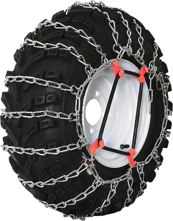 PAIR 2 Link TIRE CHAINS 16x6.50x6 fit many Yamaha Grizzly Kodiak Raptor ATV Quad