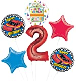 Race Car 2nd Birthday Party Supplies Stock Car Balloon Bouquet Decorations