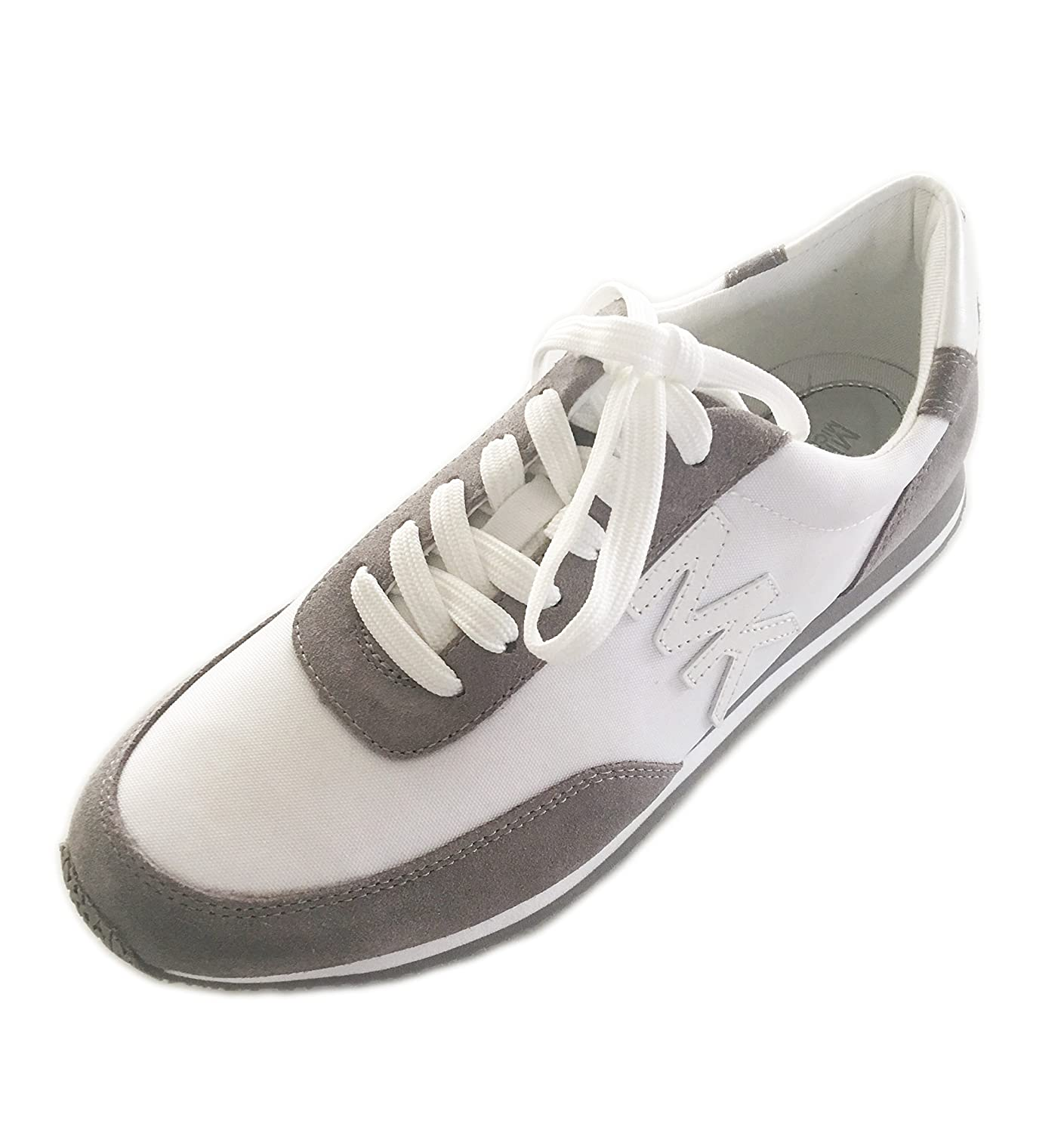 54c6aa74f7b6 Michael Kors Women s Shoes Stanton Trainer Sneaker Leather US 8.5M ( Optic  White Grey