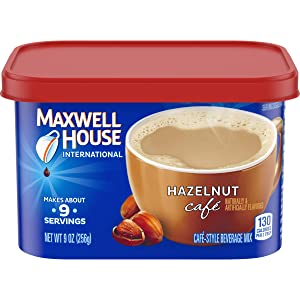 Maxwell HouseHazelnut Instant Coffee International Cafe (9oz Canisters, Pack of 4)