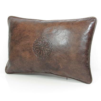 ALM adih piel almohada (Talla XL, 50 x 35 cm marrón Vintage ...