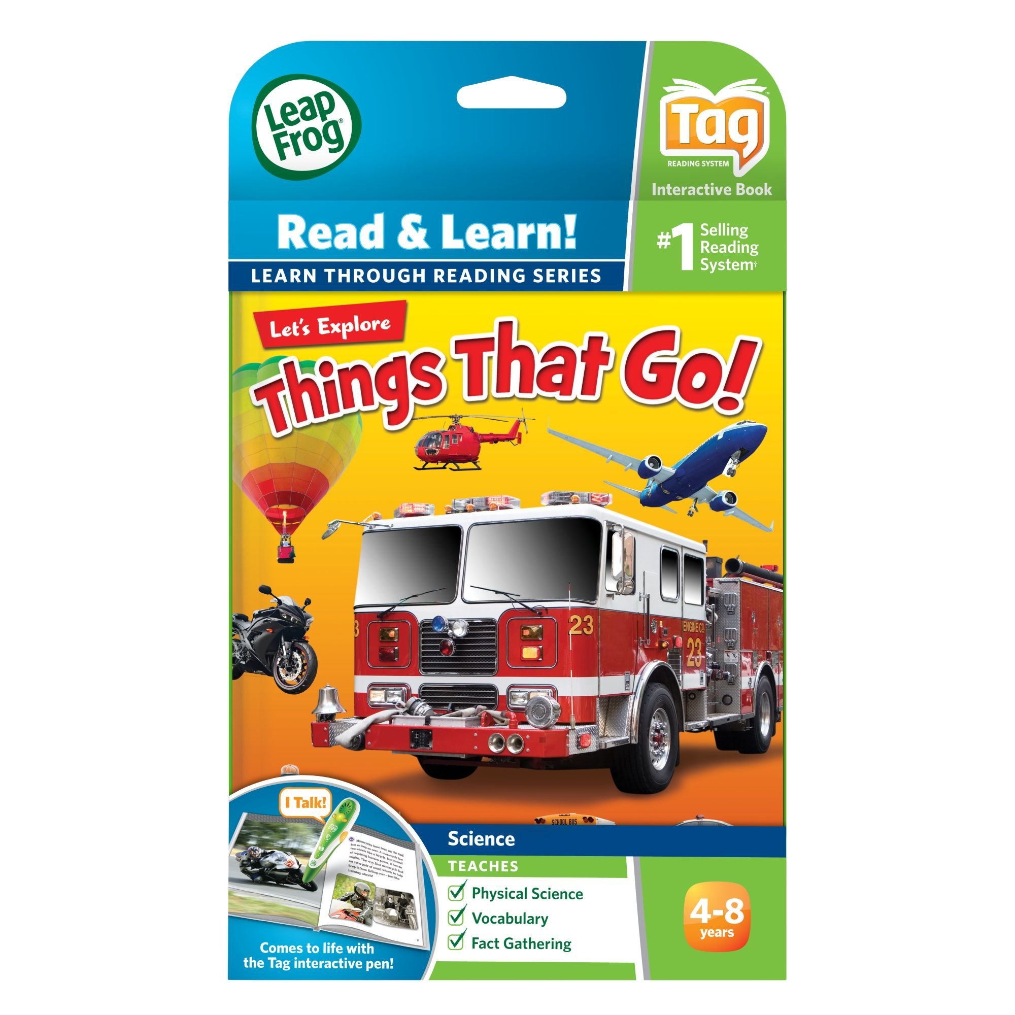 LeapFrog LeapReader Book: Let's Explore Things That Go! (works with Tag) by LeapFrog (Image #4)