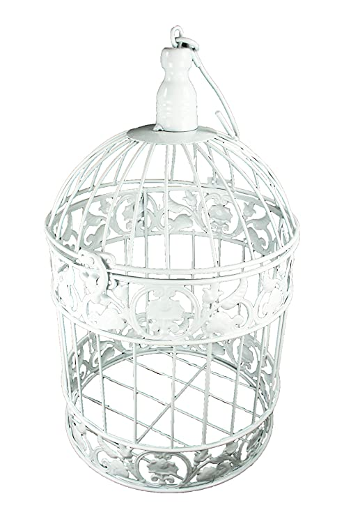Amazon Com Decorative White Metal Bird Cage Wedding Or Home Table