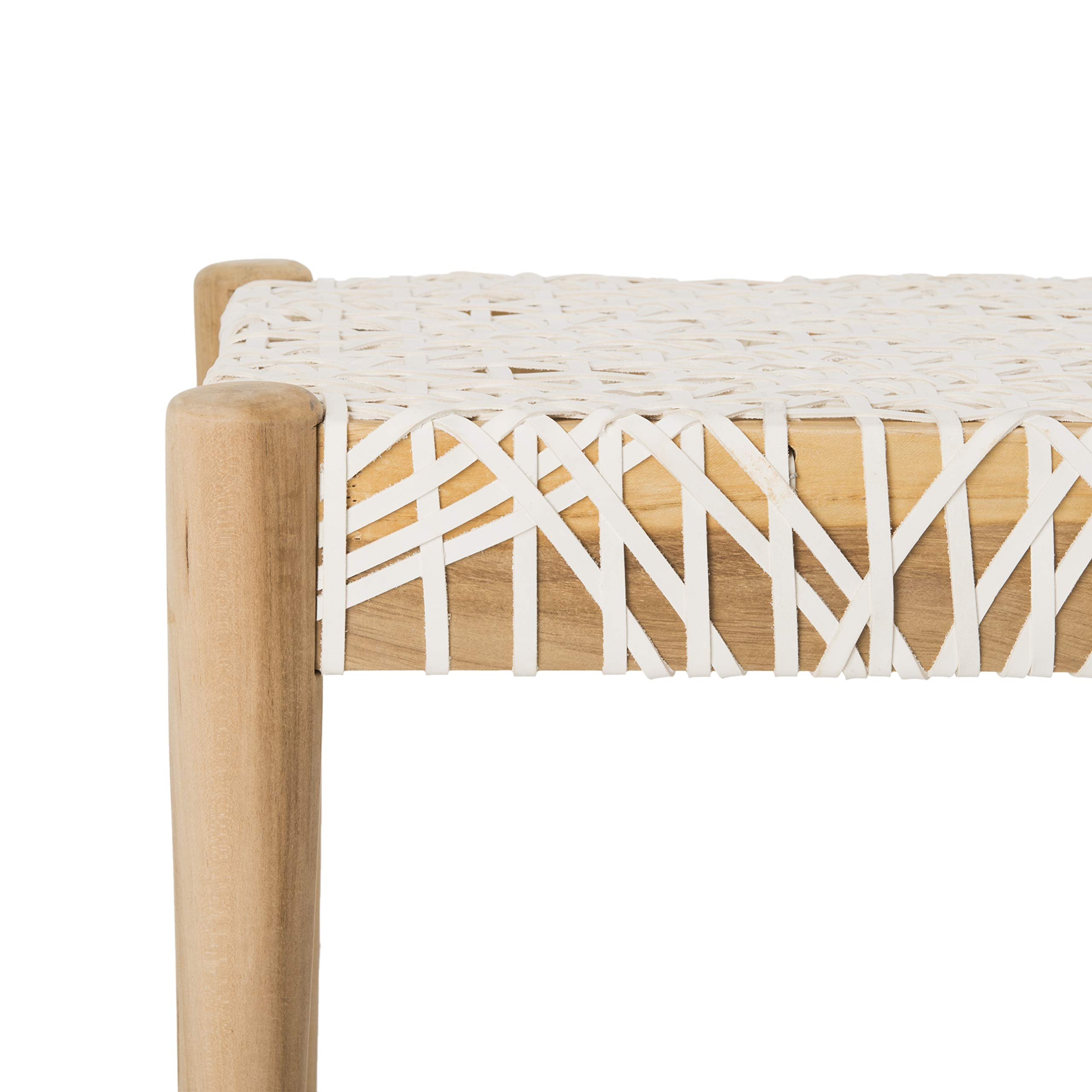 Safavieh BCH1000A Home Collection Bandelier Bench, Off- Off-White/Natural by Safavieh (Image #2)