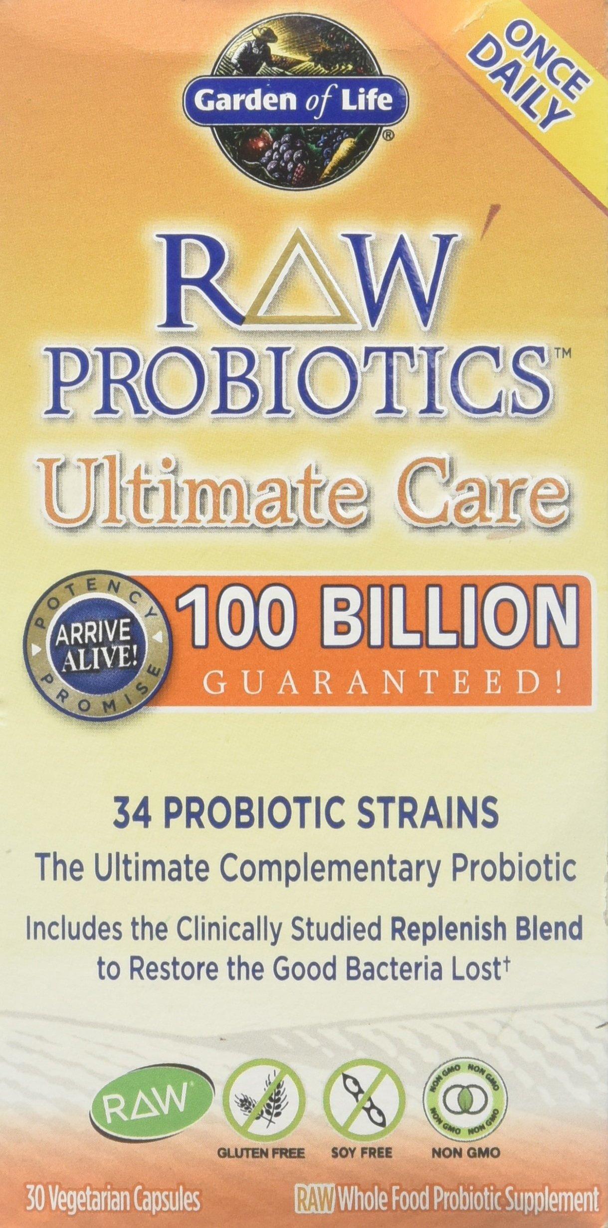 Garden of Life - Raw Probiotics Ultimate Care, 100 billion, 30 veggie caps