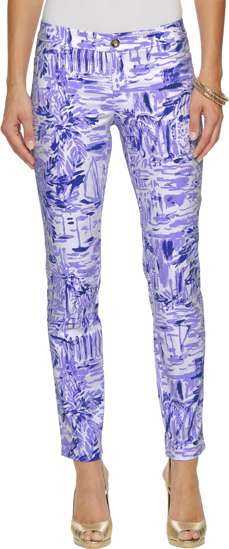 Lilly Pulitzer Women's Kelly Skinny Ankle Pants Lilac Verben Rock The Dock 8 29