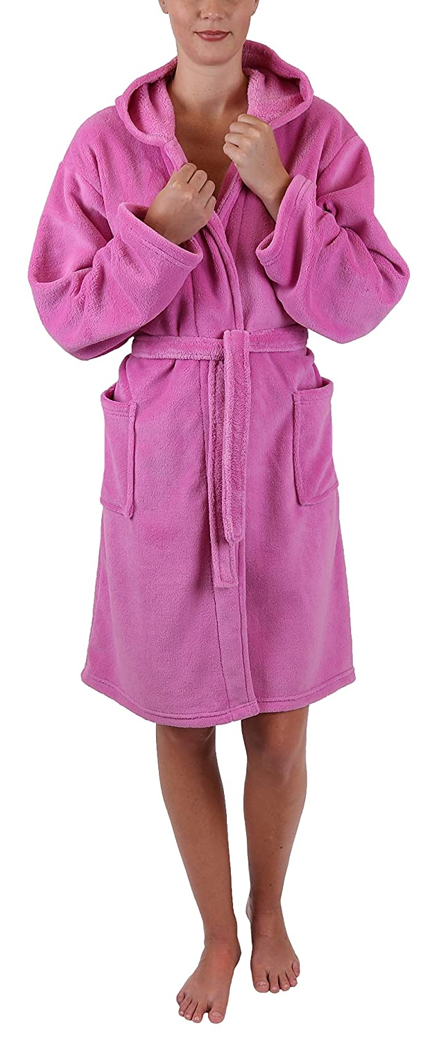 Betz Kids bathrobe STYLE with hood size 128-164 colour pink size 128