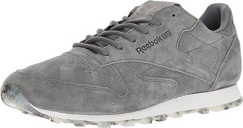 e81161136e824d Reebok Lifestyle Women s Classic Leather Shmr Alloy White Pewter Athletic  Shoe