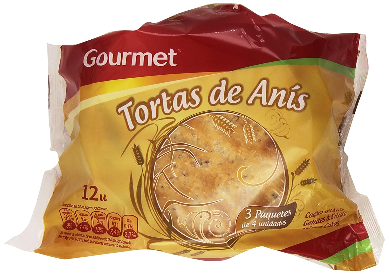 Gourmet - Tortas de Anís - 3 paquetes x 4 unidades: Amazon ...