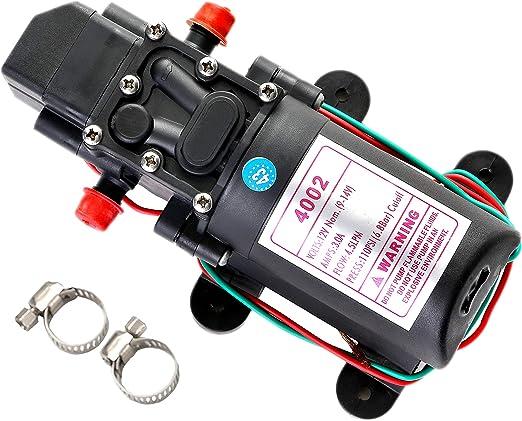 12V Volt Mini DC Diaphragm Water Pump 35PSI 4.3L//min RV Boat Sprayer Pump 12 v