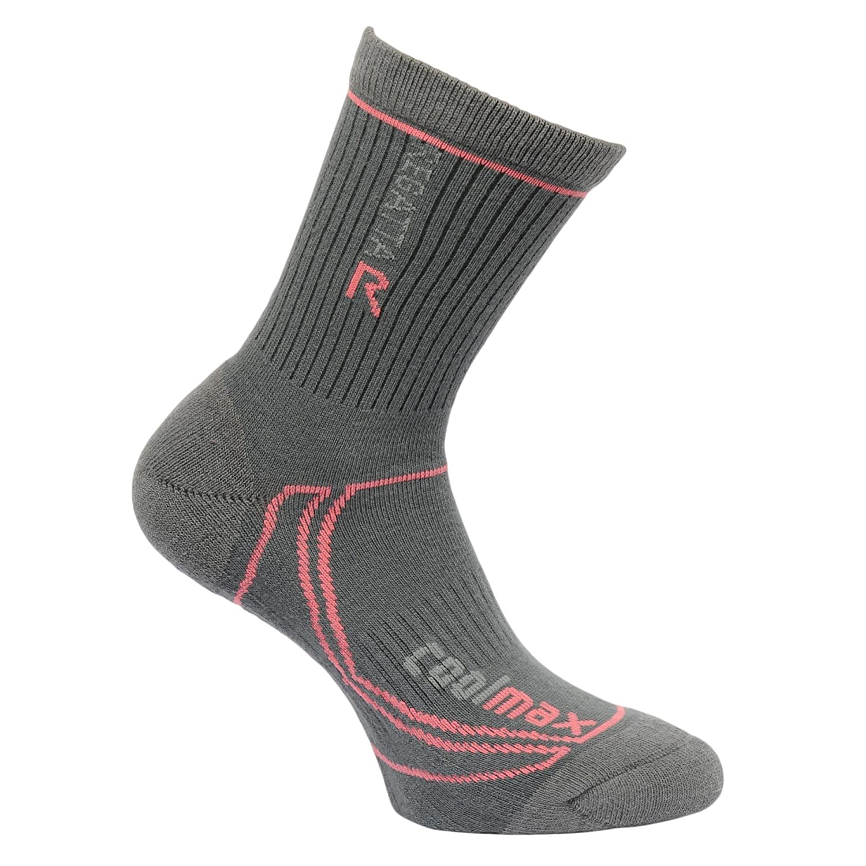 7bef9b8c577c8 Amazon.com: Regatta Ladies Coolmax Trek and Trail Sock Iron 3-5: Sports &  Outdoors