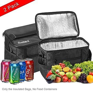 Amazon.com: Oumers bolsa de almuerzo con aislamiento Pranzo ...