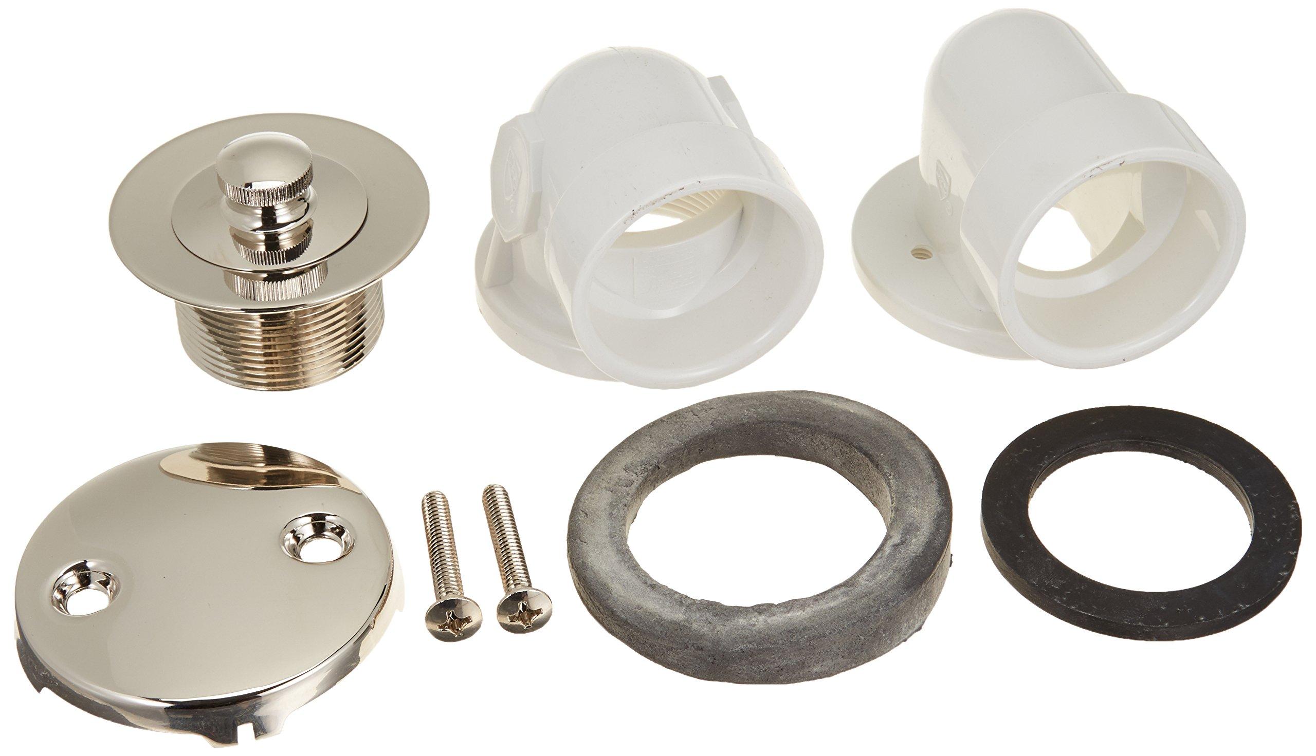Jones Stephens B0711PN Polished Nickel PVC Half Kit Lift and Twist