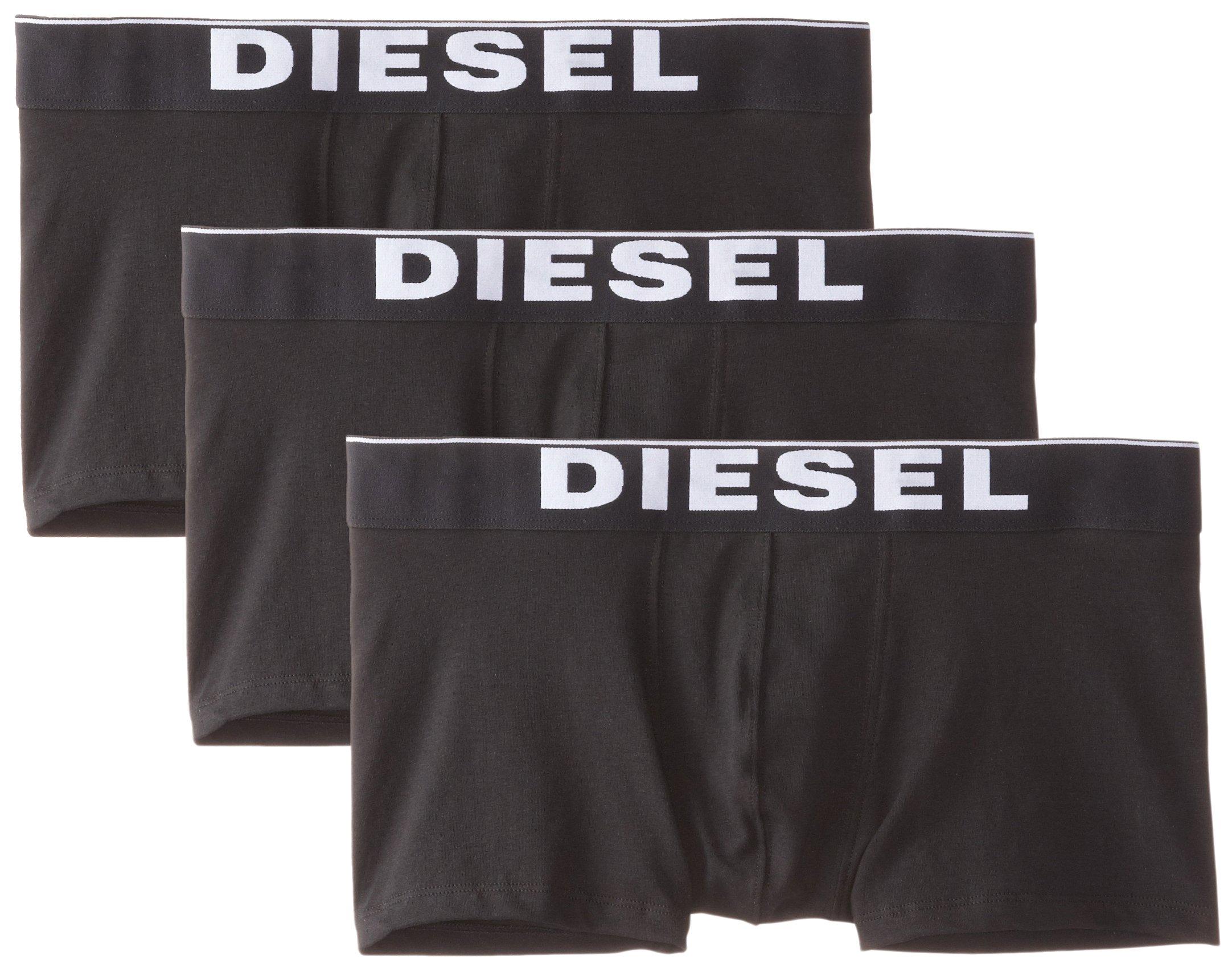 Diesel Men's Essentials 3-Pack Kory Boxer Trunk,New Black,M by Diesel