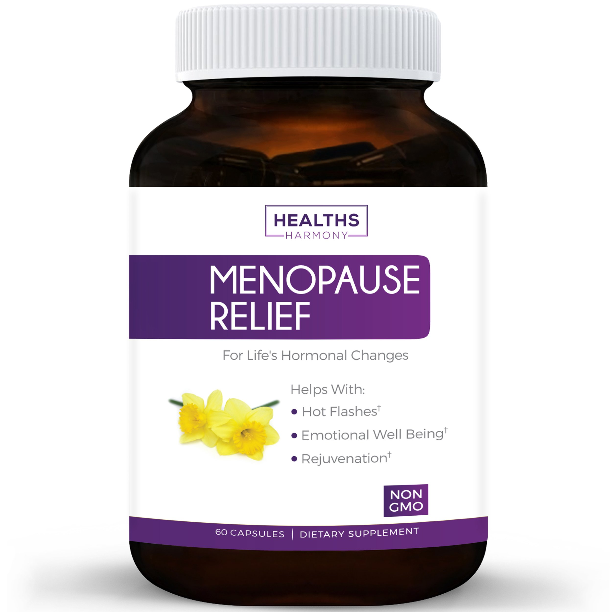 Best Menopause Relief (NON-GMO) Helps Reduce Menopausal & Perimenopause Symptoms - Hot Flashes & Night Sweats - Female Hormonal Support Supplement for Hormone Balance with Black Cohosh - 60 Capsules