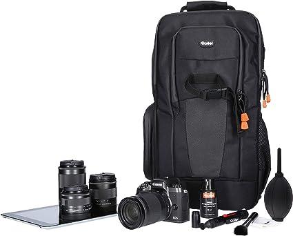 Rollei Fotoliner Slingbag, Kamararucksack für kleine DSLR und DSLM Kameras,als Handgepäck geeigneter daypack mit Regenschutz und Tablet Fach in
