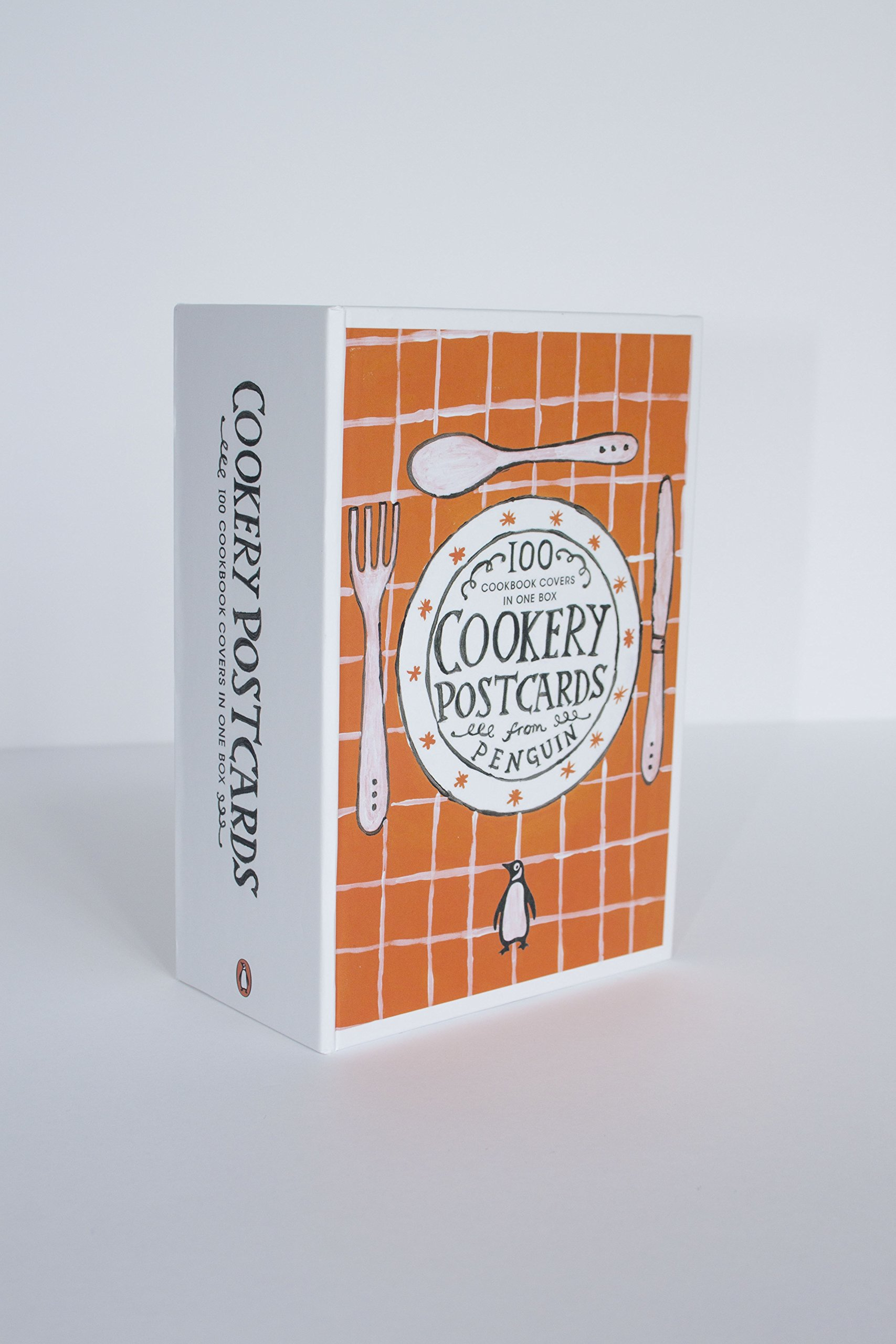 amazon cookery postcards from penguin 100 cookbook covers in one