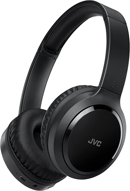 JVC HA S80BN B Noise Cancelling Bluetooth On Ear Kopfhörer mit kompakter Bauweise, schwarz