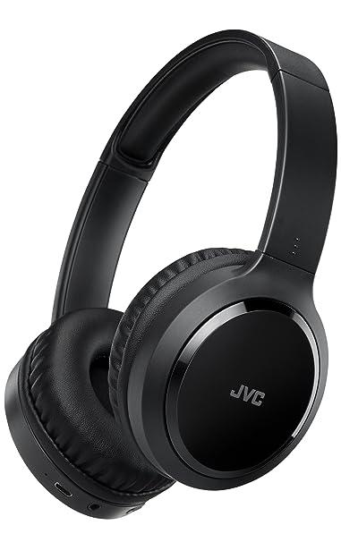 JVC HA-S80BN-B Noise-Cancelling Bluetooth On-Ear-Kopfhörer mit kompakter Bauweise, schwarz
