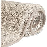 FCSDETAIL Antislip, hoogpolige badmat, machinewasbare badmat met waterabsorberende, zachte microvezels, voor badkuip…