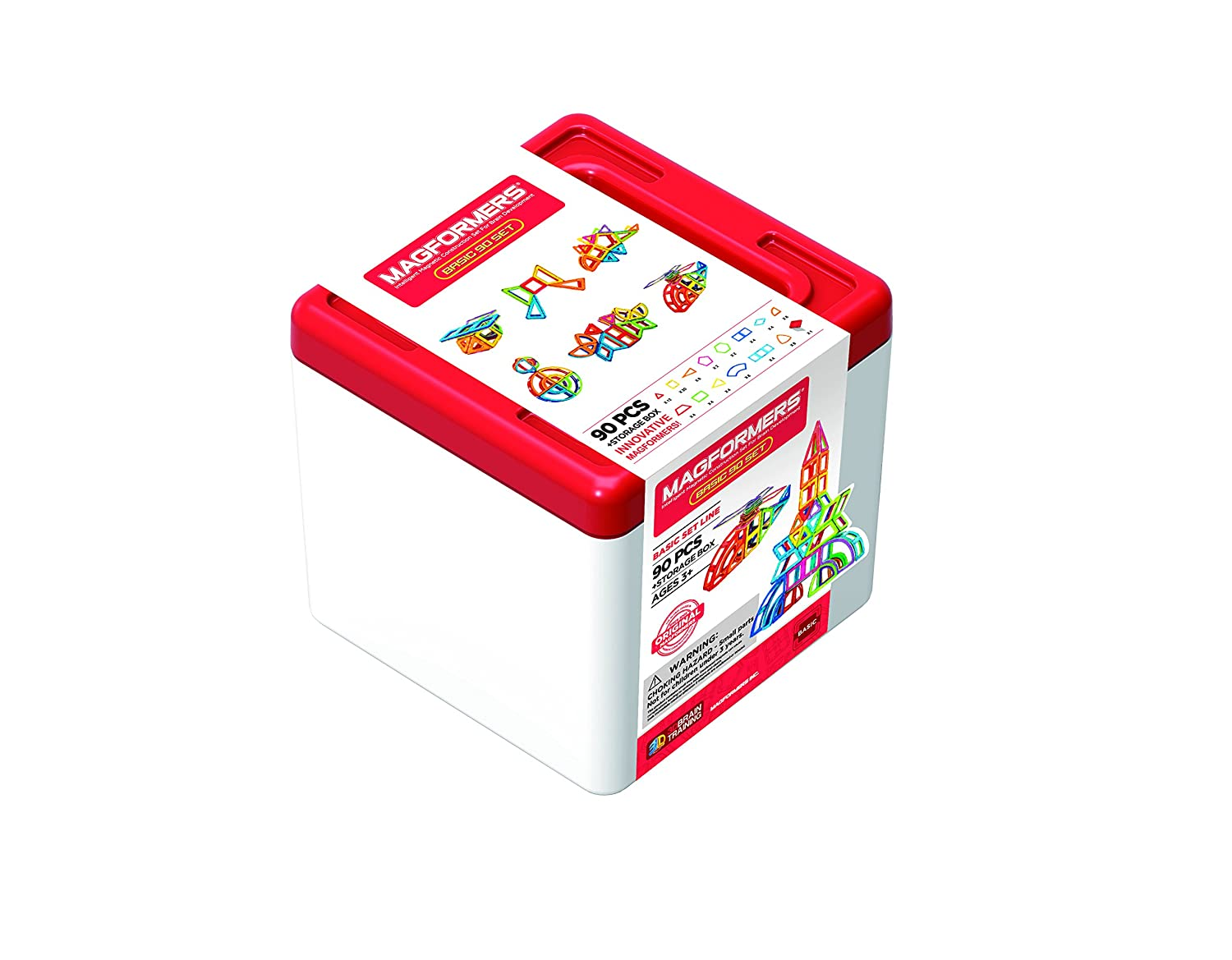 Magformers 701014 90-Piece Magnetic Construction Set con Scatola