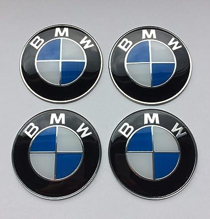 Conjunto de 4 x 60mm pegatinas de rueda, para tapas tapacubos BMWautoadhesivas: Amazon.es: Coche y moto