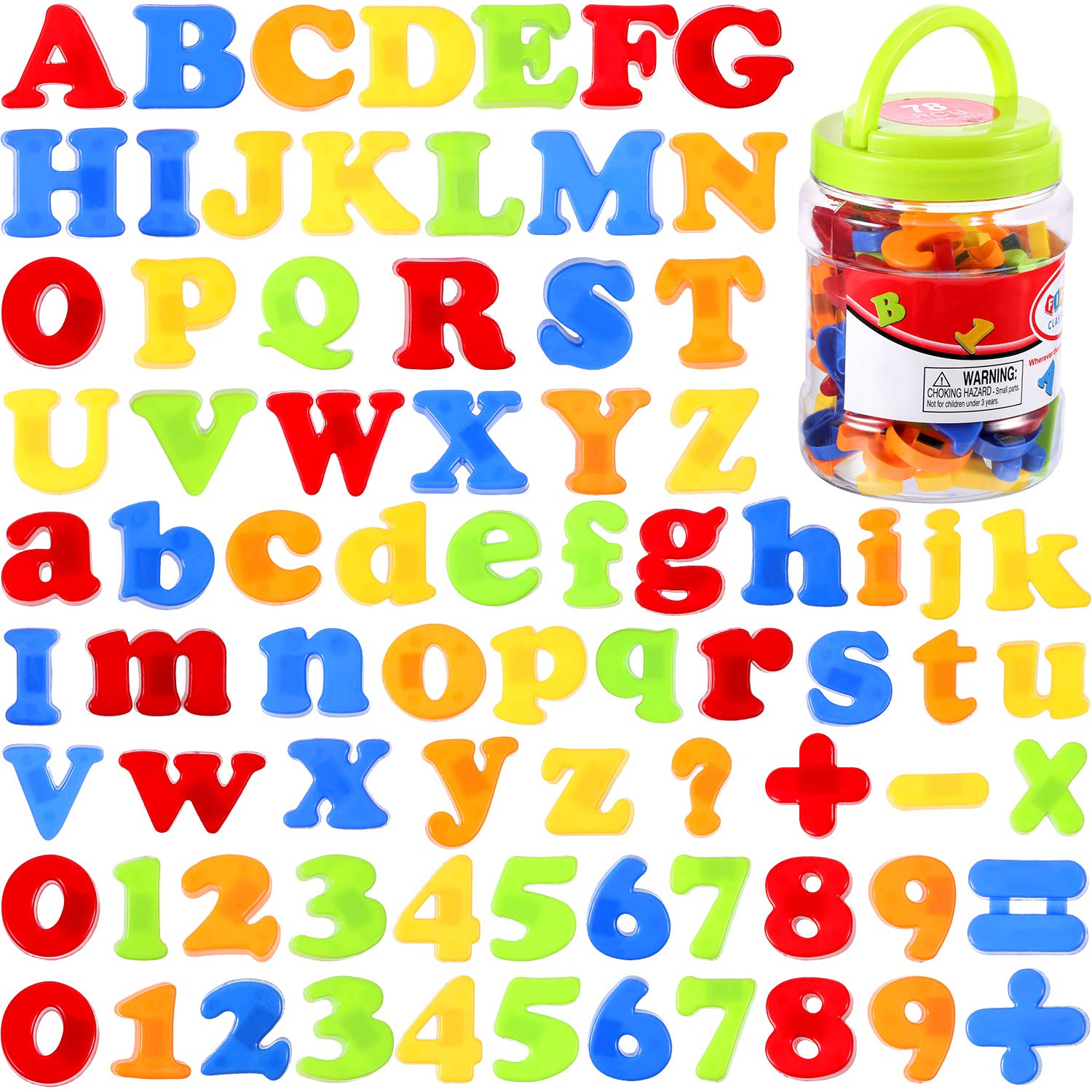 Boao Magnetic Letters and Numbers for Kids Educational Alphabet Refrigerator Magnets 78 Pieces
