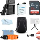 32GB Accessories Kit For Nikon COOLPIX AW110, AW100 Waterproof Digital Camera Includes 32GB High Speed SD Memory Card + Extended Replacement (1050 MAh) EN-EL12 Battery + AC/DC Travel Charger + Mini HDMI Cable + USB 2.0 Card Reader + Case + FLOAT STRAP