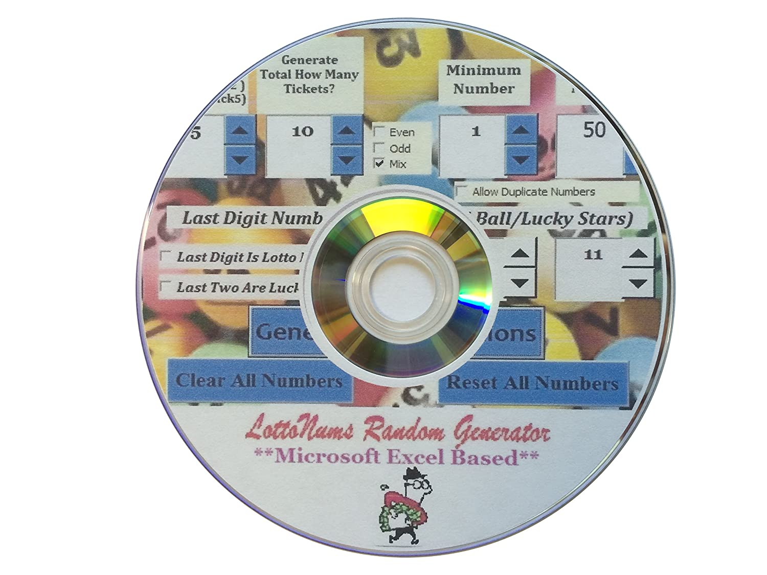 Lottery Random Numbers Combinations Generator Software Excel