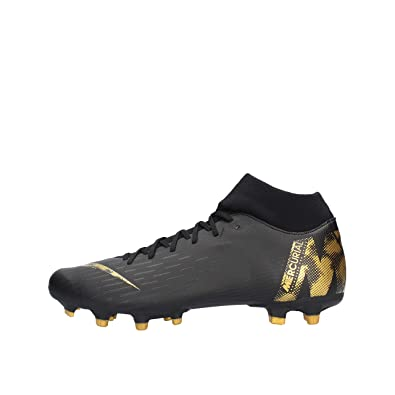 0d52884661e Nike Men s Mercurial Superfly 6 Academy MG FG-Black-Gold ...