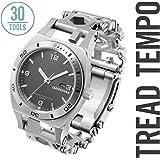Leatherman - Tread Tempo Watch, Customizable Multitool Timepiece, Stainless Steel