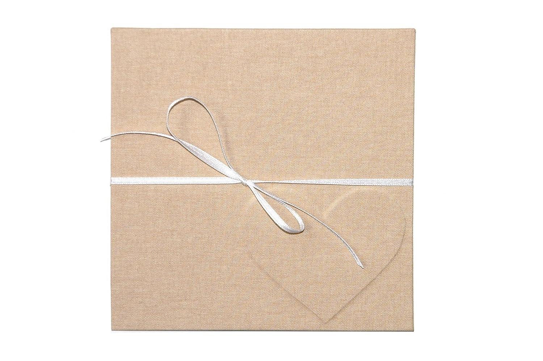 Leporello Fotoalbum 15x15cm weißer Fotokarton Herz Hochzeit