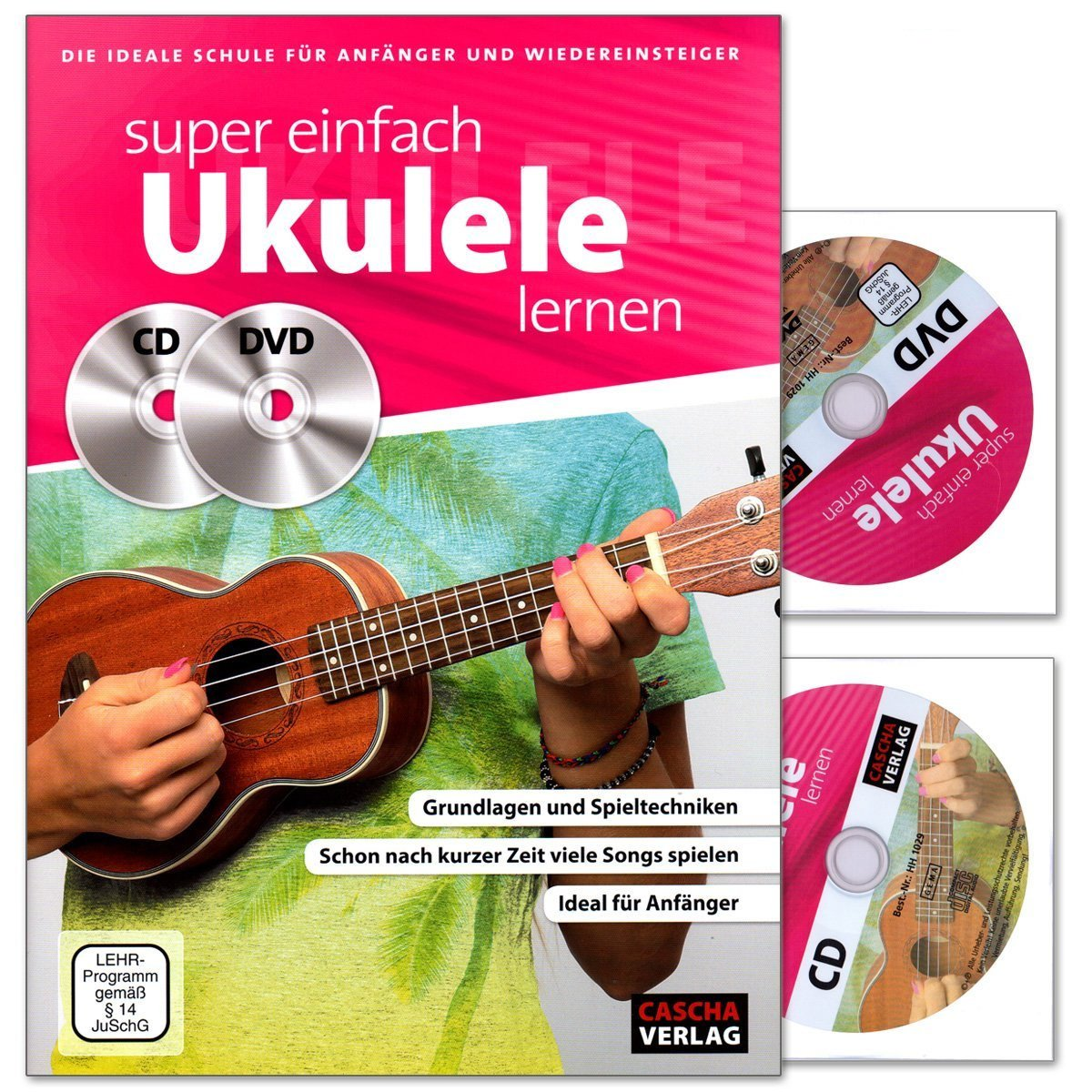 Super facile Ukulélé apprendre - École Idéal pour débutants et  wiedereinsteiger - lehrbuch avec CD, DVD et coloré Cœur Note Pince:  Amazon.fr: Instruments de ...