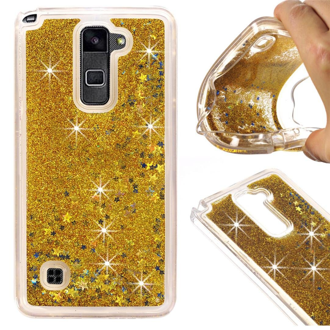 For LG Stylo 2 Plus MS550 Case Sinfu Transparent Quicksand Glitter Protective Case Cover (F)