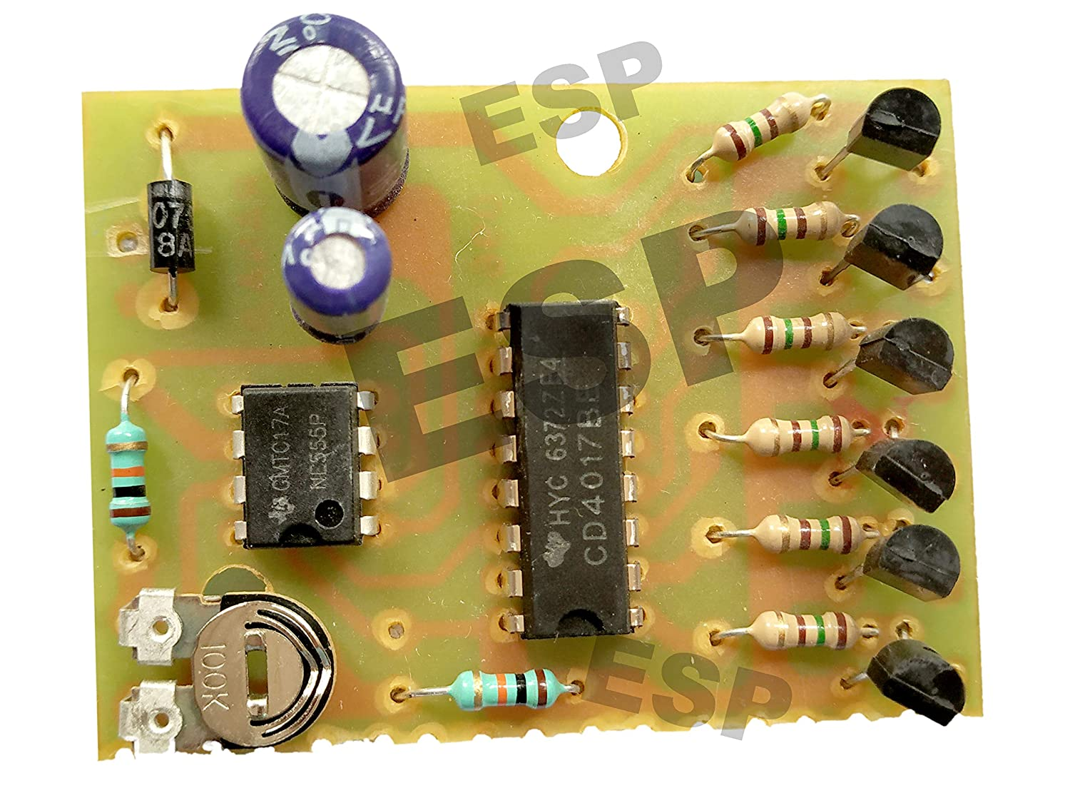 Led Chaser Circuit Running Light Decad Counter For Home 555 Electronic Projects Cd4017 Timer Industrial Scientific