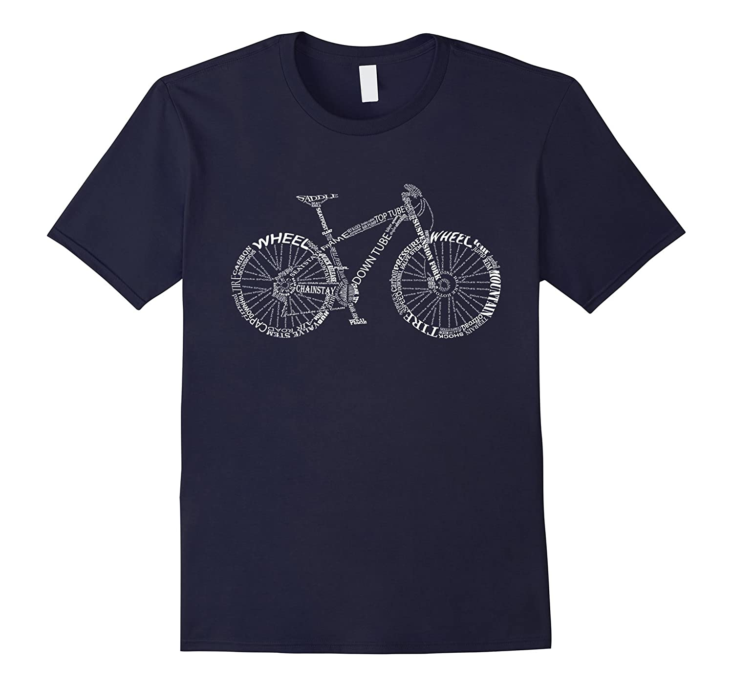 Bicycle Amazing anatomy tshirt - mountain bike white color-TD