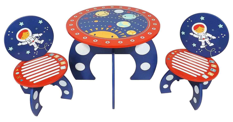 Kidsaw Explorer Tavolo e Sedia, Legno, Blu, 50 x 50 x 41 cm 50x 50x 41cm Kidsaw Ltd EXTC