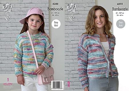 771272d08 King Cole Ladies   Girls Sweater   Cardigan Bamboozle Knitting ...