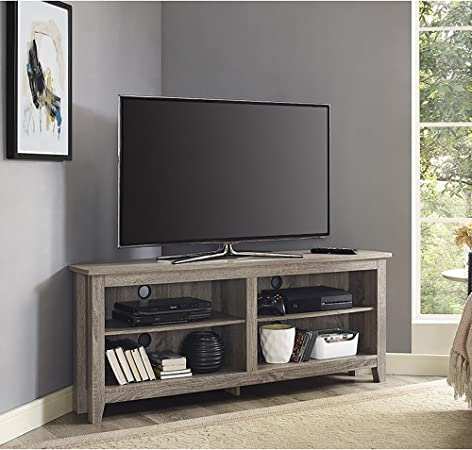 Home Accent Furnishings Lucas 58 Inch Wide Corner Television Stand In Driftwood Furniture Decor