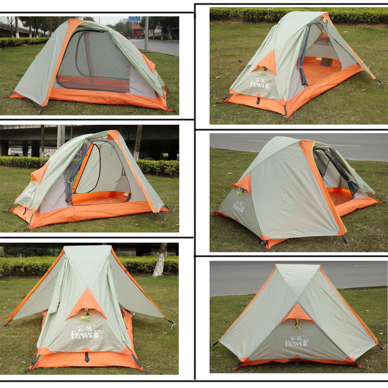 Amazon.com  Hewolf Outdoor 1 Man Tent for Trekking/Riding/Hiking/C&ing Waterproof  Sports u0026 Outdoors & Amazon.com : Hewolf Outdoor 1 Man Tent for Trekking/Riding/Hiking ...
