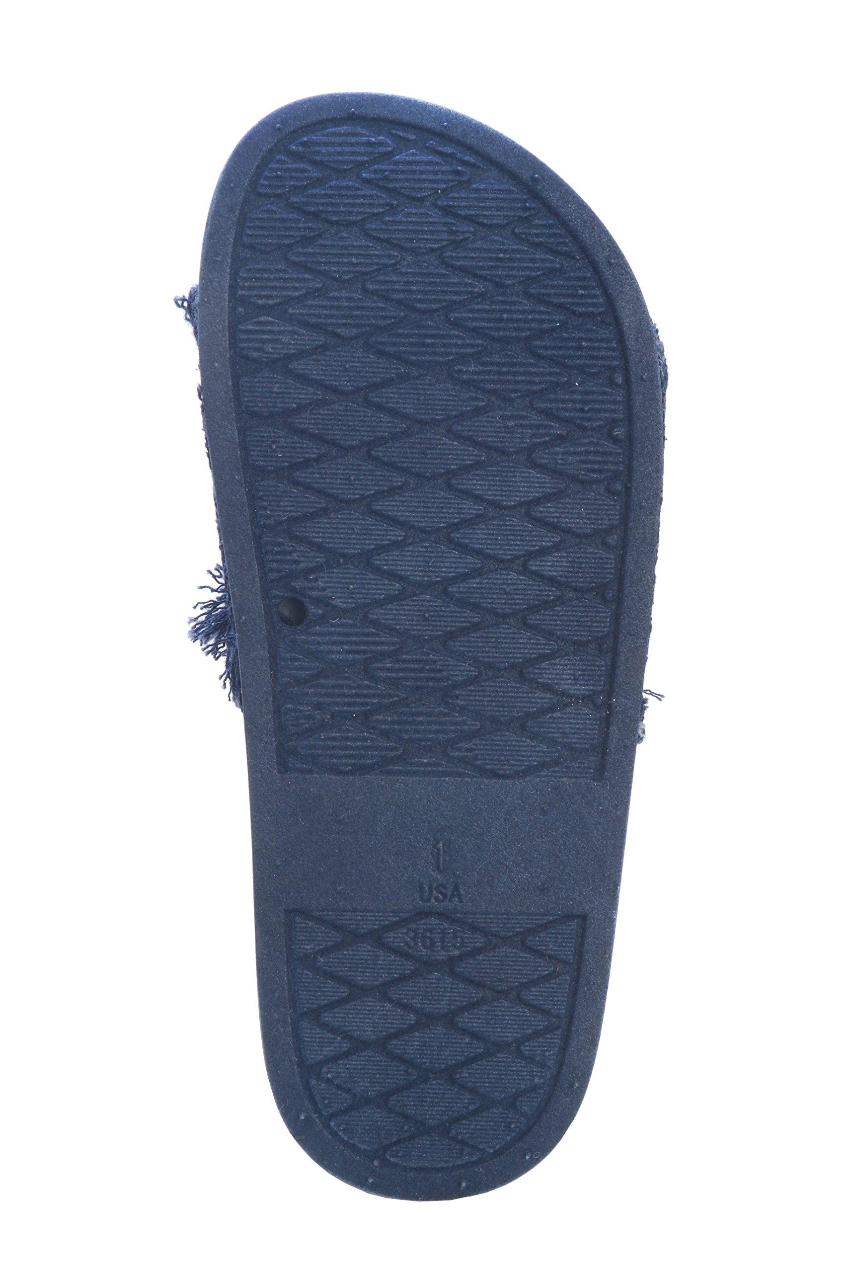 Pupeez Girl's Slide Sandals Kids Open Toe Denim Summer Slippers Ultra Comfort by Pupeez (Image #4)