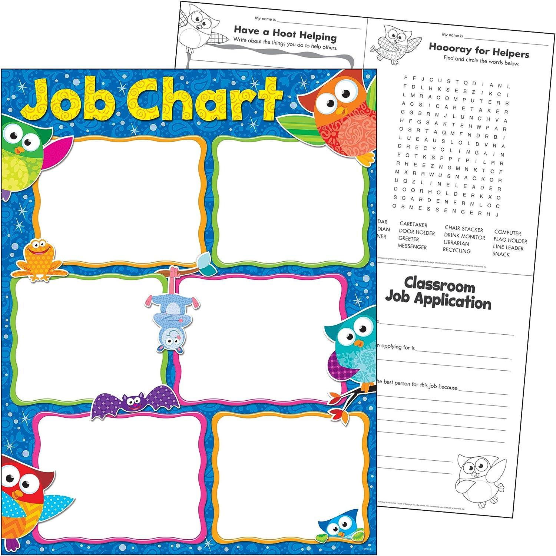 17 x 22 Job Chart Owl-Stars Trend Enterprises Inc Learning Chart