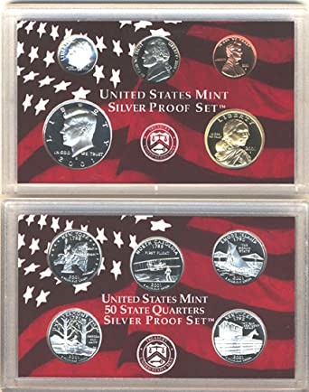 2001-s U.S Mint Made in Red Mint Box with COA SILVER Proof Set U.S