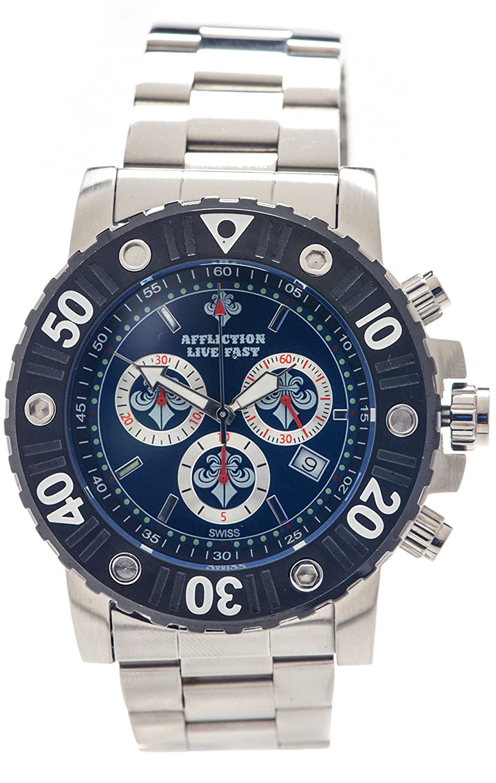 Affliction Herren Chronograph Uhr AF3612S-SLBL